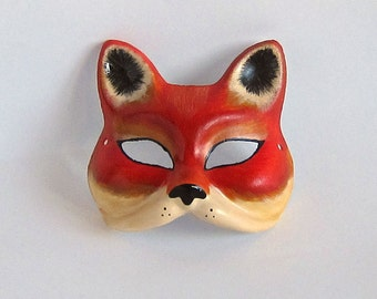 Vintage Style Red Fox Mask