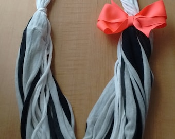 T-shirt Scarf with Bow