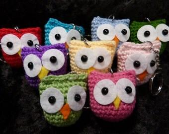 Owl Keychain - crochet