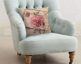Throw pillow cover ''Vintage flowers''