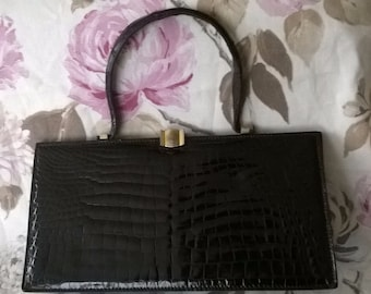 genuine leather crocodile bag