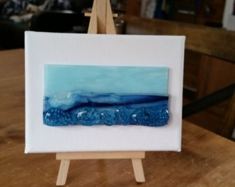 Glass Seascape on Canvas - Small