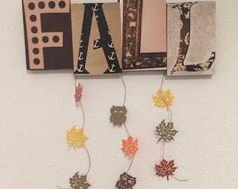 Fall letter art
