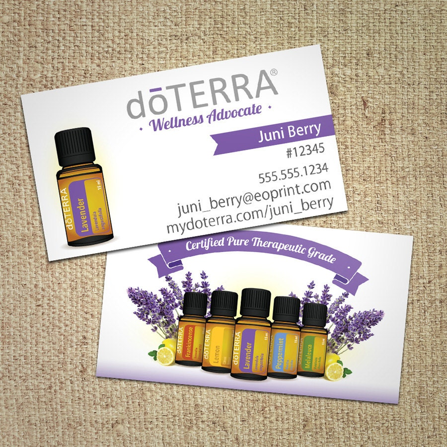 doTERRA Business Cards Bottles Illustration by