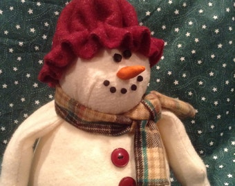 Snowman, Christmas snow lady,Holiday snow lady,winter decor,holiday decor,Christmas decor,country snow lady,primitive snowlady