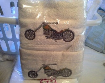 Harley Motorcycle Towel Set