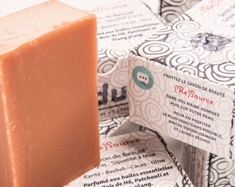 Beauty SOAP (Re) Source - made cold - Shea and beautiful fabrics for your skin