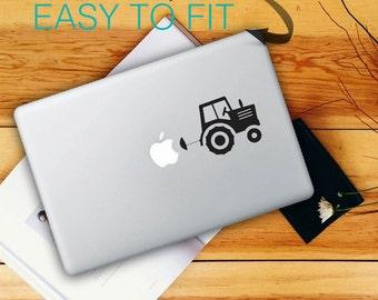 Traktor Macbook Stickers on black vinyl | Laptop stickers | Macbook Decal - self adhesive vinyl stickers