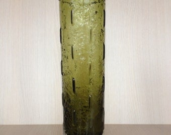 Large Riihimaen Lasi Oy Green Vase Tamara Aladin 1461