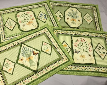 Country living herb theme padded placemats