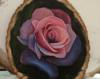 Rose on Wood (Original)