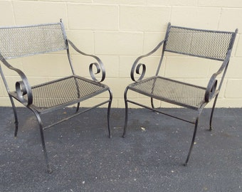Vintage Pair of Hollywood Regency Patio Chairs 1960's Greyhound Shipping 99