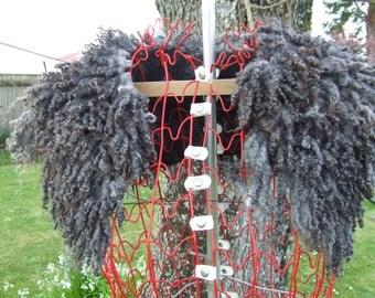 New Zealand Gotland/Merino Fur Felt Collar, Natural Greys