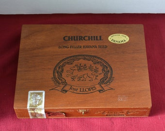 Vintage Wood Cigar Box