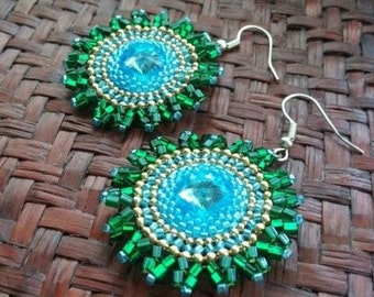 Earrings inspired by the Midnight Sun