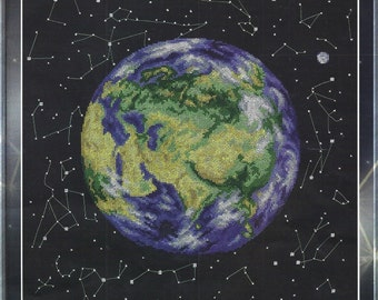 Cross Stitch Kit Planet Earth