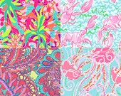 Sample Pack of 8 Most Popular - 6x6 Inch Lilly Pulitzer Vinyl Sheets - Permanent Adhesive