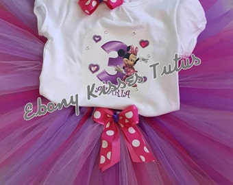Minnie mouse themed tutu set