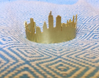Boston Skyline Cuff Bracelet (Brass or Silver)