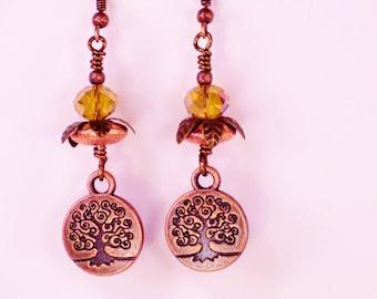 Copper Tree of Life Dangles