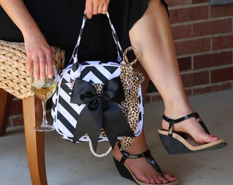 The Charlene, Premium insulated beverage wine purse wine tote with hidden spigot by Vivajennz