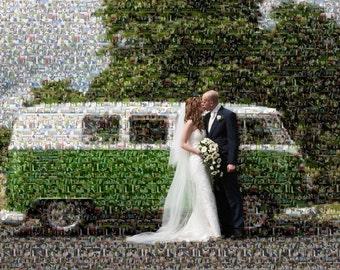Layered Photo Mosaic made using your photos.