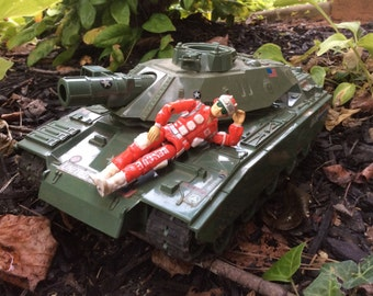 Vintage GI Joe tank and figure