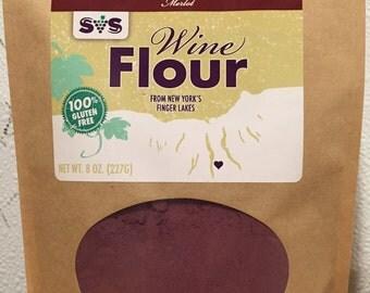 Merlot Wine Flour. Gluten Free. Nutrition. Flavor. High Protein. High Fiber