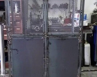 Steel Hutch Custom Hutch Industrial Hutch Rustic Hutch Welded Hutch Handmade Hutch Industrial Furniture Rustic Furniture Handmade furnitur
