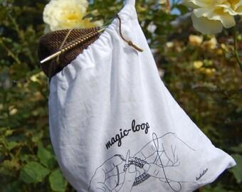 Magic Loop Knitting Project Bag