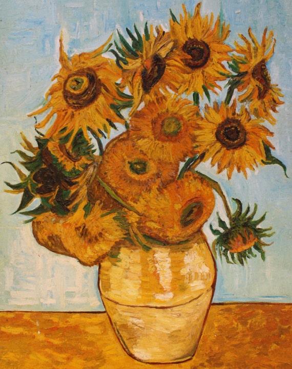 Matrimonio Girasoli Van Gogh : Vaso con dodici girasoli copia di van gogh atelierdangelone