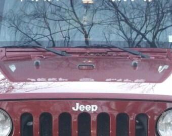 Jeep windshield decal Custom
