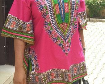 African print  Danshiki women's top