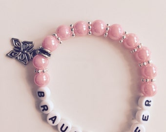 Pearl bracelet bridesmaid for your wedding