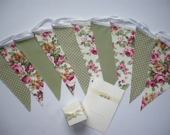 "10 Foot ""SUMMERTIME"" Fabric Bunting"