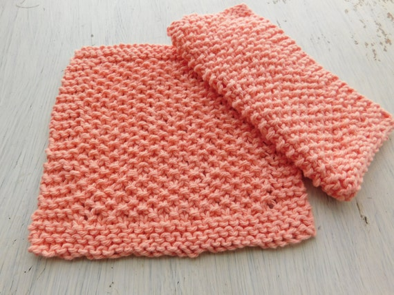 Knitted Washcloth Pattern Easy Pattern Beginner Knitted