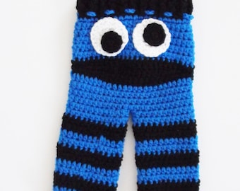 Cookie Monster Inspired Pants