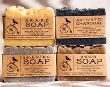 Boyfriend gift  - Luxury Mens Soap Set - 4 soaps,homemade soap,handmade soap,vegan soap,skin care soap,boyfriend gift.