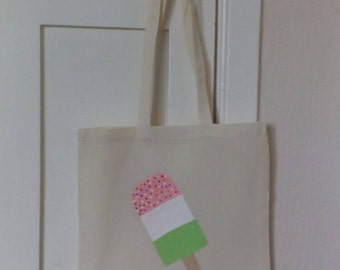 Summer ice lolly tote bag hand painted