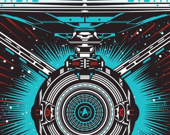 Star Trek Beyond USS Enterprise Large A1 Poster