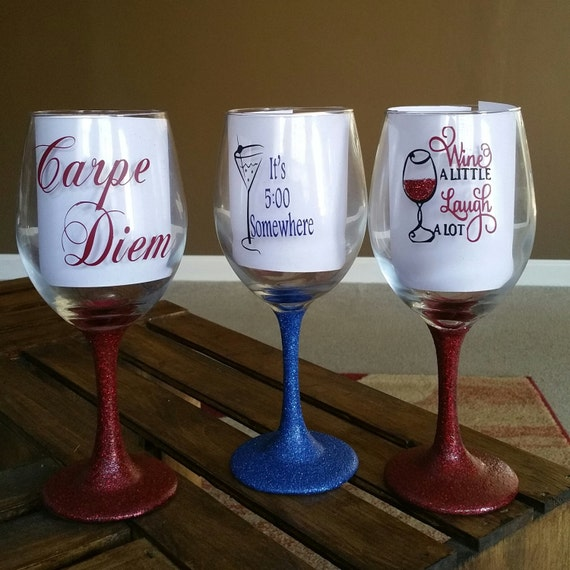 Decorative Wine Glasses By PricelessGemBoutique On Etsy