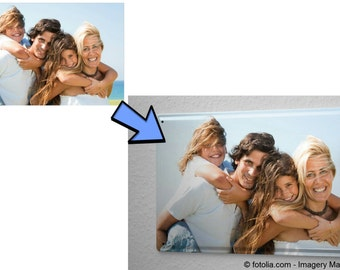 Your photo on metal plate