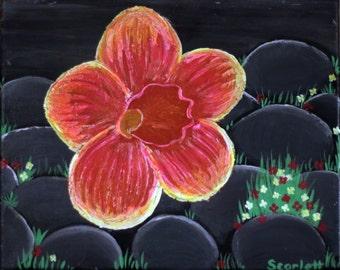 """Glow Flower 8""""x10"""" *Test"""