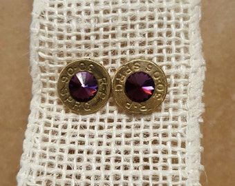 Swarovski Crystal Bullet Earrings