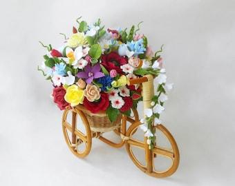 floral arrangement handmade flower clay