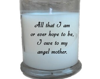 Angel Mother 8.5 oz Soy Candle; Gifts for Mom; New Mom Gift; Mother Christmas; Mom Candles; Mother's Day;