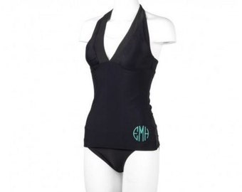 Monogrammed Ladies Tankini Swimsuit Set
