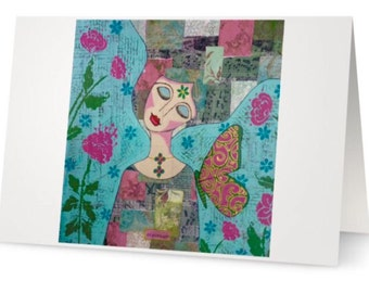BLANK CARD 'Courage' ~ mixed media artwork by Amanda Stelcova