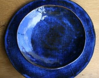Dinnerware, Ceramic Bowl, Handmade Stoneware Bowl, Blue Bowl, Pasta Bowl, Salad Bowl, Dinnerware
