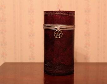 Dragons Blood Pillar Candle